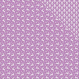 Scrapberry's Elegantly Festive Double-Sided Cardstock 12X12-Reindeer/Lustrous Lilac