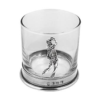 Golfe do Pewter Whisky vidro único Tumbler