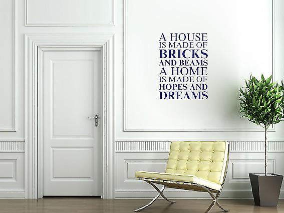 A house is made of Wall Art Sticker - Ultra Blue