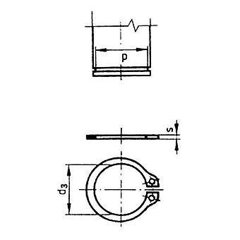 Spårringar innerdiameter: 8,4 mm DIN 471 fjäderstål 100 dator TOOLCRAFT 9 D471 194748
