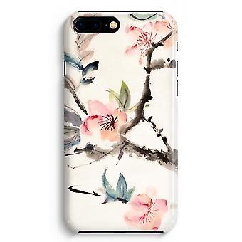 iPhone 8 に加えて、フル印刷ケース (光沢のある) - 日本の花