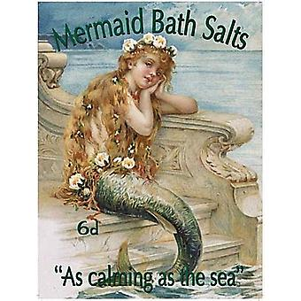 Mermaid Bath Salts Fridge Magnet