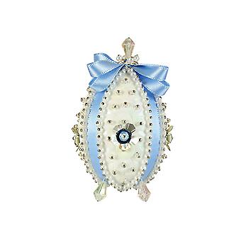 Pinflair Sequin & Pin Blue Carnation Faberge-Style Easter Egg