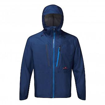 Infinity Fortify Mens FULLY WATERPROOF & BREATHABLE Running Jacket Midnight Blue