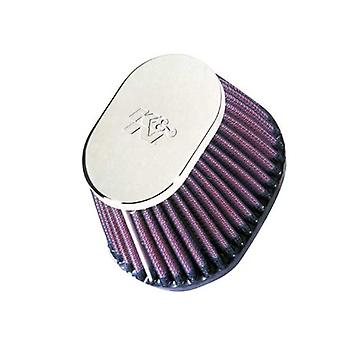 K&N RC-0981 Universal Clamp-On Air Filter: Oval Straight; 2.125 in (54 mm) Flange ID; 2.75 in (70 mm) Height; 4 in x 3 i