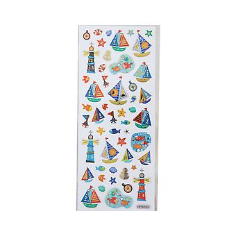 Holographic Foiled Fun Stickers - Seaside & Nautical   Under the Sea Crafts