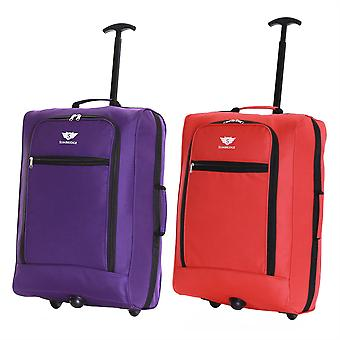 Slimbridge Montecorto Set of 2 Cabin Luggage Bags, (Set of Purple and Red)