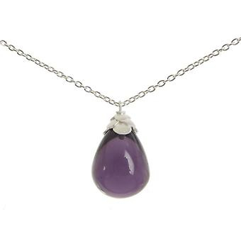 Cavendish French Sterling Silver and Amethyst Teardrop Necklace