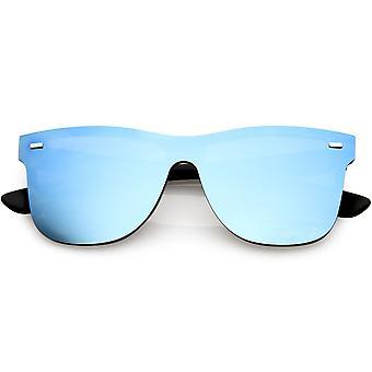 Futurystyczny róg oprawie okulary bez oprawek dublowanego osłona obiektywu 59mm