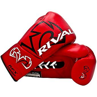 Rival Boxing RFX Guerrero HDE-F Pro Fight Lace Up Leather Boxing Gloves - Red