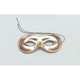 Maschera Domino. Oro.