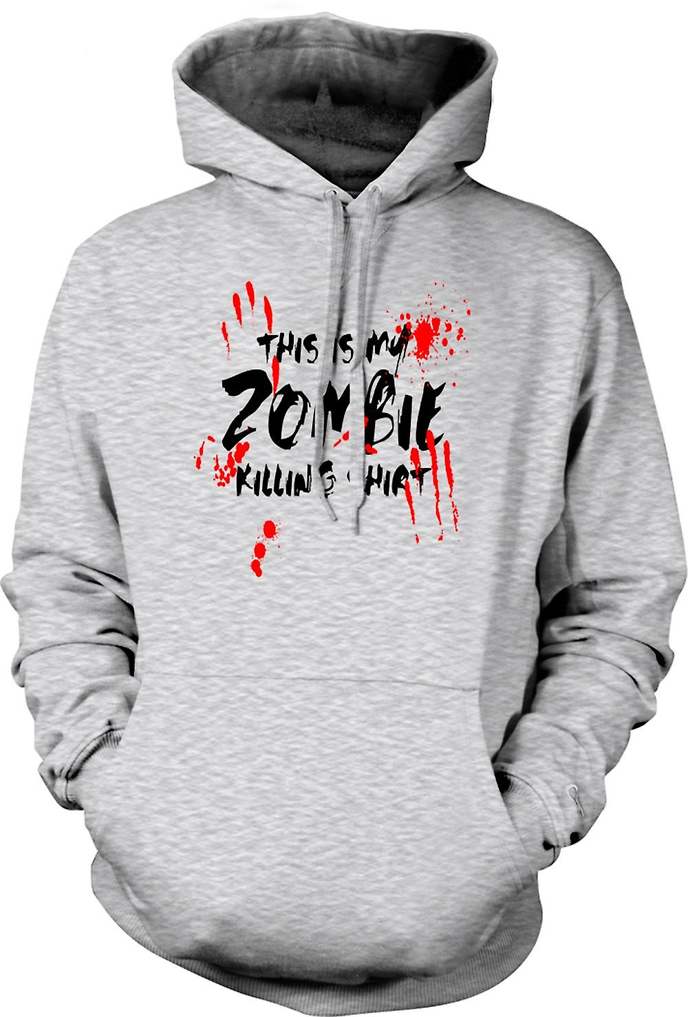 Mens Hoodie - This Is My Zombie massacre - Drôle