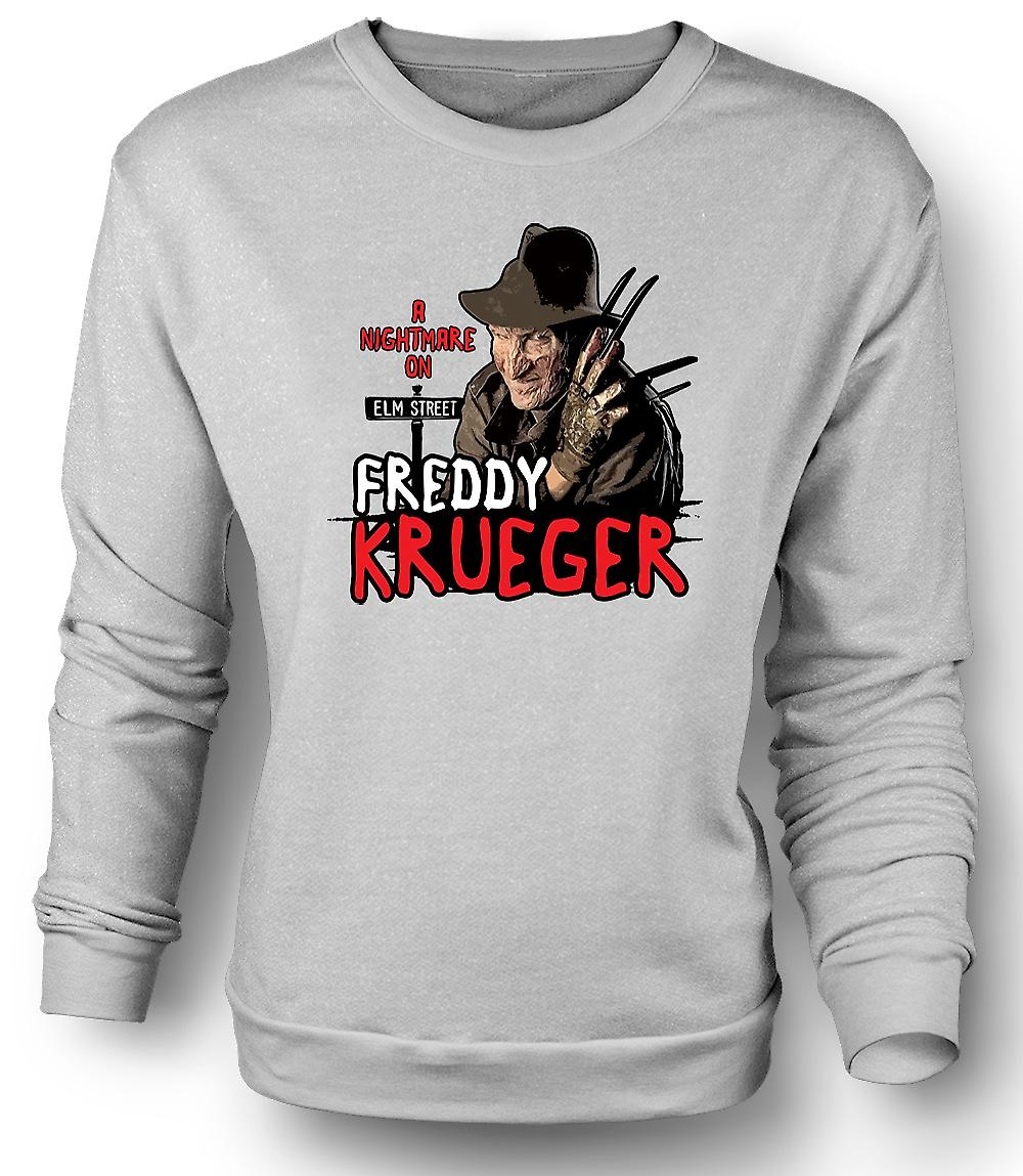 Mens Sweatshirt Nightmare On Elm Street - Freddy Krueger