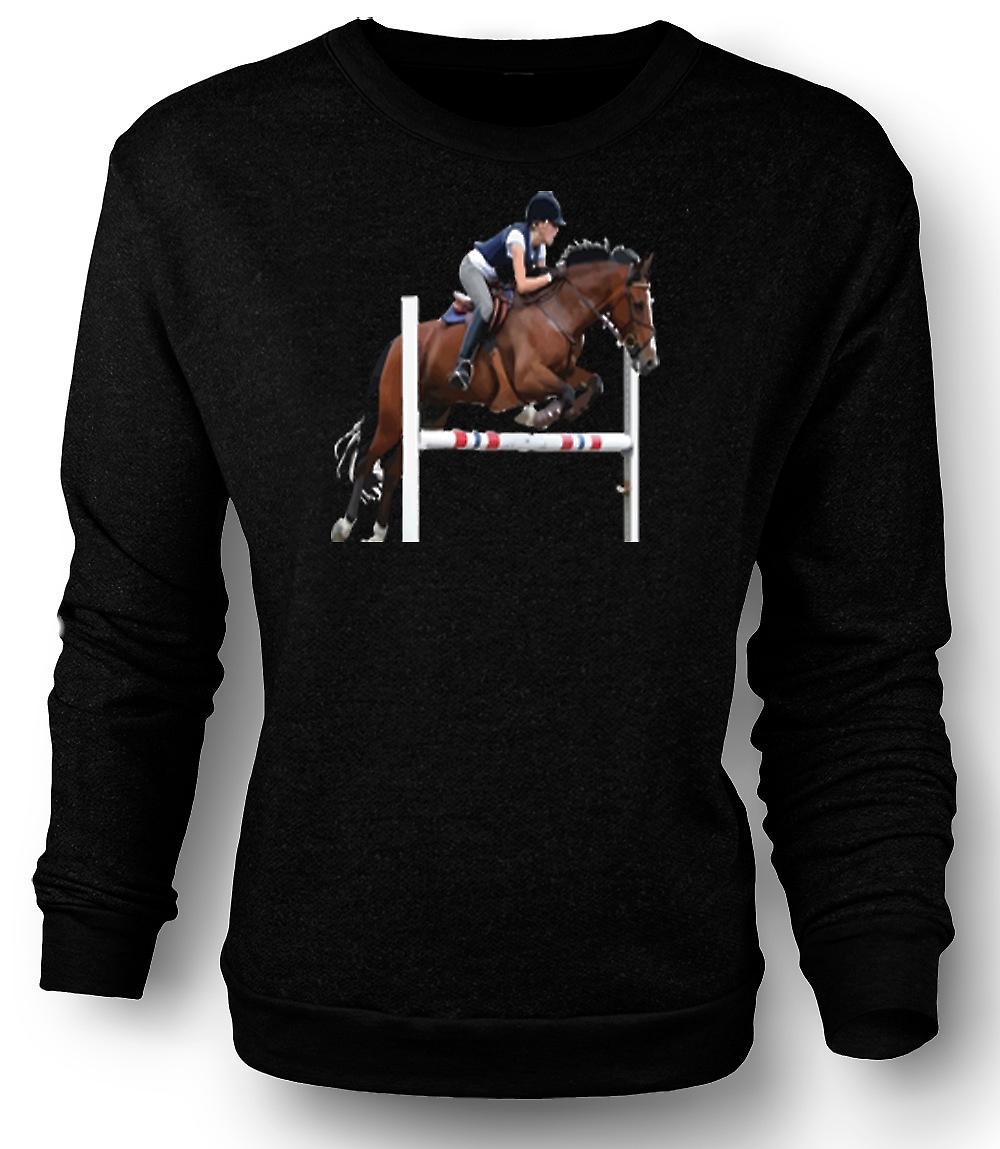 Mens Sweatshirt hoppning häst