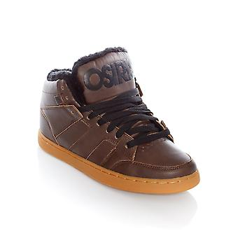 Osiris Brown-Black Convoy Mid Shearling Shoe