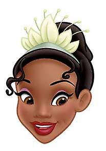 Princess Tiana Card Face Mask