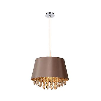 Lucide Dolti 45cm Taupe Crystal Ceiling Hanging Pendant