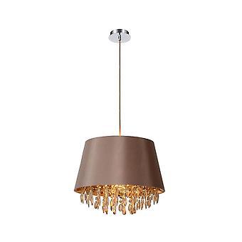 Inspiracja Dolti 45cm szaro-brązowy kryształ sufit wiszące Lampa wisząca