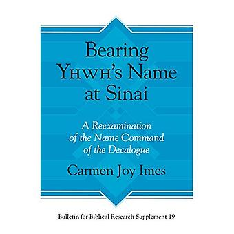 Bearing Yhwh's Name at Sinai:�A Reexamination of the Name�Command of the Decalogue�(Bulletin for Biblical�Research Supplement)