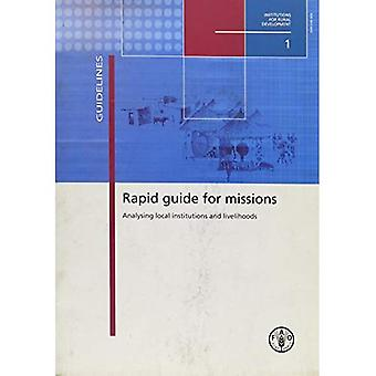 Rapid Guide for Missions. Analysing Local Institutions And Livelihoods: 1
