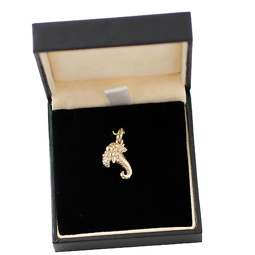 9ct Gold 16x12mm solid Horn of Plenty Charm