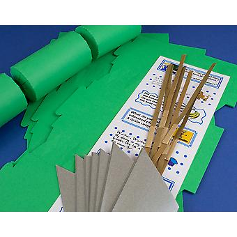 12 Emerald Green Make & Fill Your Own Cracker Kits