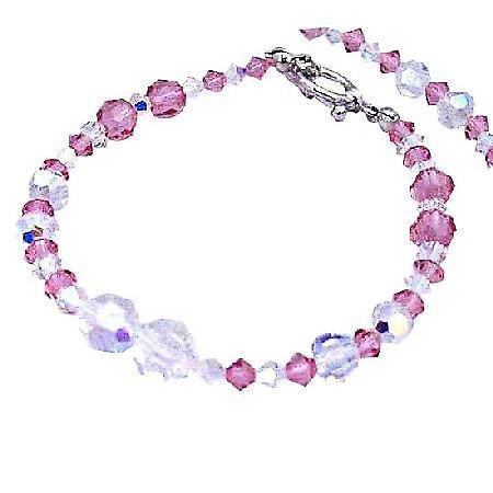 Swarovski AB Swarovski Crystals & Rose Crystals Hanmade Bracelet