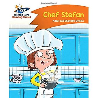 Lezing planeet --chef kok Stefan - oranje: Komeet Street Kids (Rising Stars planeet lezen)