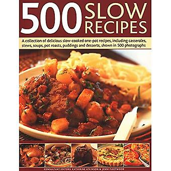 500 Slow Recipes: A collection of delicious slow-cooked one-pot recipes,� including casseroles, stews, soups, pot roasts, puddings and desserts, shown in 500 photographs