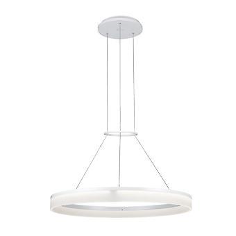 Circ White Medium One-Tiered LED Standard Ring Pendant - Grok 00-0002-BW-M3