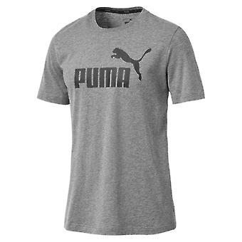 Пума Essentials логотип Спорт Мужская мода фитнес обучение футболку серый