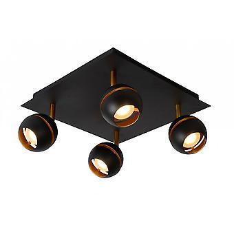 Lucide en binaire hulpprogramma's moderne Square Metal Black Spot licht plafond