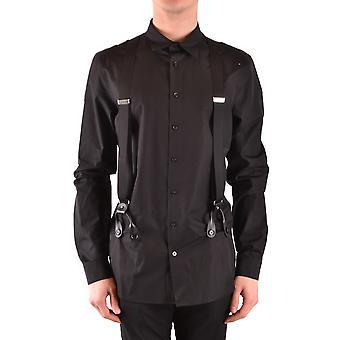 Moschino camisa de algodón negro