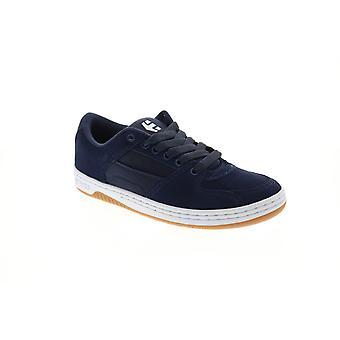 Etnies Senix Lo Mens Blue Suede Athletic Lace Up Skate Shoes