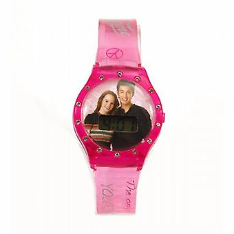 Fame Girls Digital Calendar Pink Strap Watch ZR42933