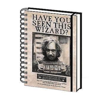 Harry Potter Wanted Sirius Black A5 Notebook