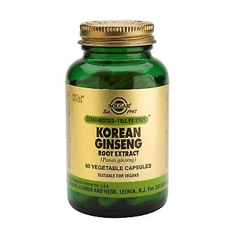 Solgar, Standardised - Full Potency Korean Ginseng Root Extract Vegetable Capsules, 60