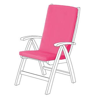 Gardenista® Pink Water Resistant Highback Seat Pad for Garden Chair, Pack of 8