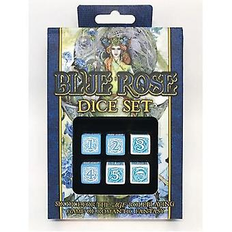 Blue Rose Dice Set 6 Dice Dice Set