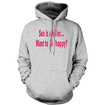 Womens Hoodie - Sex is a killer...want to die happy? - Quote