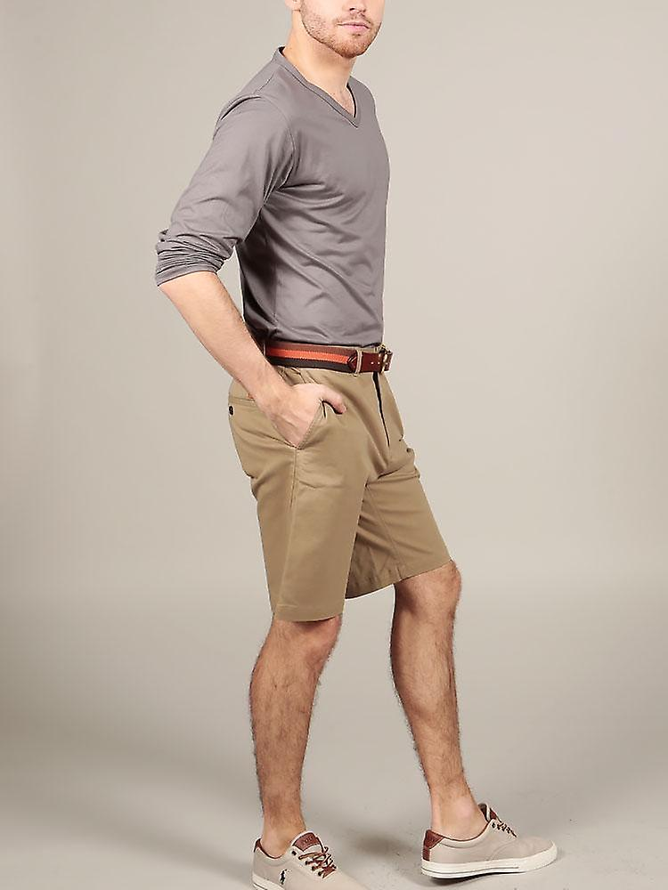 Slim fit chino shorts – classic khaki