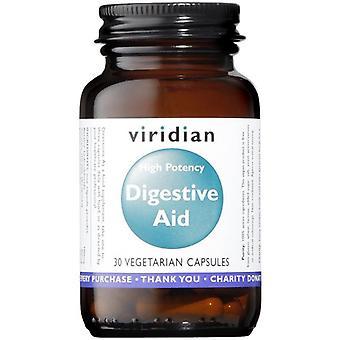 Viridian hög styrka matsmältningsorganen Aid (vegan) veg CAPS 30 (470)