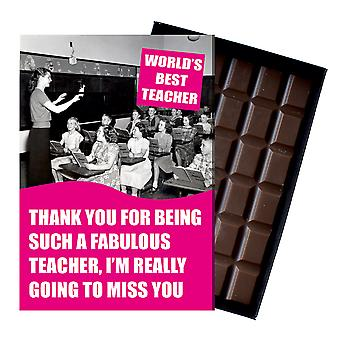 Leaving Gift For Best Teacher Teaching Assistant Gift boxed Chocolate Greeting Card Present CDL221