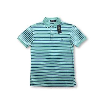 Ralph Lauren Polo slim fit polo in turquoise/blue stripe