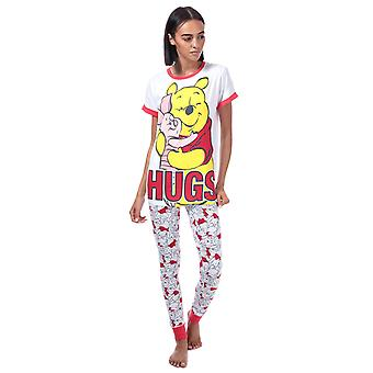 Womens Disney Winnie The Pooh Hugs Pyjamas in white.