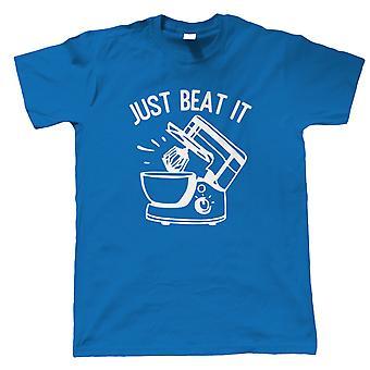Just Beat It Mens T-Shirt | Signature Creme Pat Hollywood Handshake Winner | Cake Scone Bread Pastry Biscuit Pie Patisserie | Baking Food Gift Him Dad