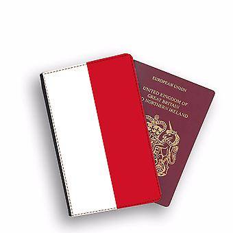 INDONESIA Flag Passport Holder Style Case Cover Protective Wallet Flags design