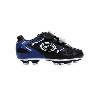 Optimum Tribal Strap Moulded Kids Football Boot Black/ Blue