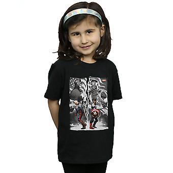 Marvel Girls Falcon And Captain America Split T-Shirt
