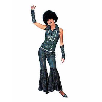 Disco Girl Jumpsuit Black Sequins 70s Women's Costume Love Suit Costume Ladies